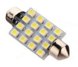 Led auto sofit cu 16 SMD 41 mm