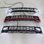 Grila fata cu lumini de zi DRL negru cu rosu TRD Toyota Hilux Revo 2015, 2016, 2017, 2018 THR15FGL