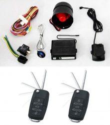 Alarma auto K119 cu 2 telecomenzi cu cheie briceag Tip VW