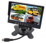"""Display auto de 7"""" cu 4 canale, 12V - 24V, D710 cu telecomanda"""